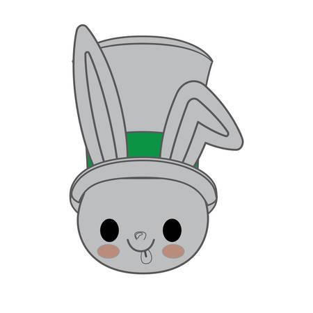 kawaii animal style with Christmas theme isolated icon design, vector illustration graphic Illustration