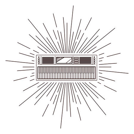 affiche de la radio ancienne sur éclater fond isolé icône design, vecteur illustration graphique