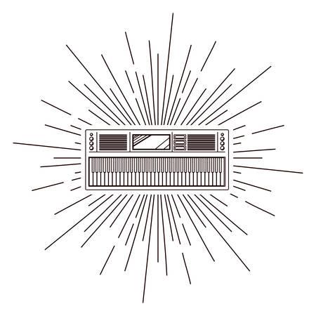 altes Radio Plakat über platzen Hintergrund Icon Design, Vektor-Illustration Grafik