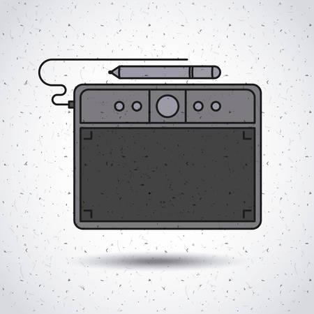 digitizer: digital tablet design isolated icon design, vector illustration  graphic