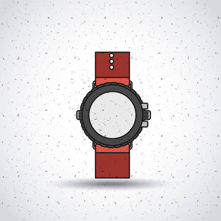 straps: wristwatch isolated icon design, vector illustration  graphic