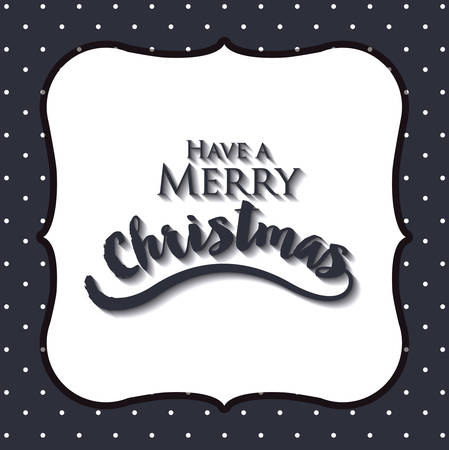 christmas present: merry christmas frame isolated icon design, vector illustration  graphic