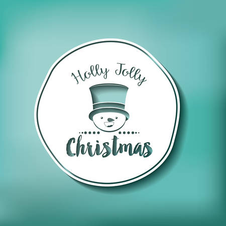 snowman isolated: merry christmas frame with snowman isolated icon design, vector illustration  graphic Illustration