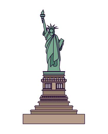 liberty statue: liberty statue isolated icon design, vector illustration  graphic