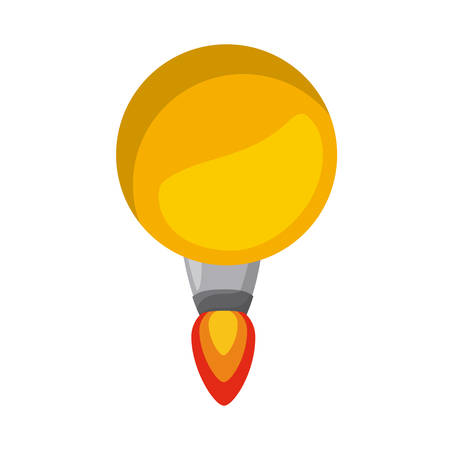 launcher: rocket launcher of bulb isolated icon design, vector illustration  graphic Illustration