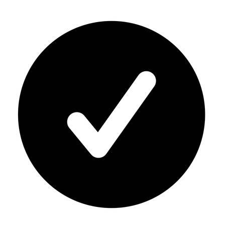 vérifier symbole isolé icône design, vecteur illustration graphique
