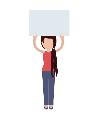 notices: people protesting with signs and notices isolated icon design, vector illustration  graphic