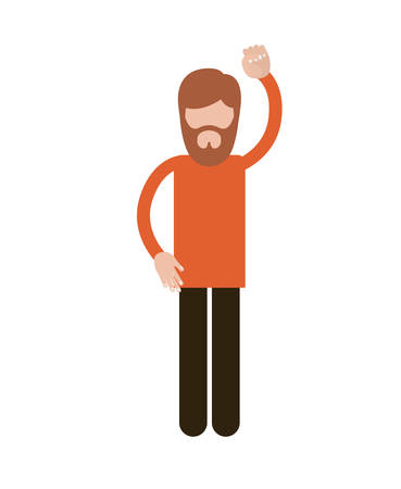protest: person with gestures of protest isolated icon design, vector illustration  graphic