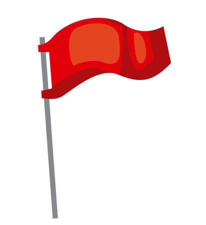 flag pole: flag pole isolated icon design, vector illustration  graphic