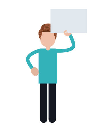 protesting: people protesting with signs and notices isolated icon design, vector illustration  graphic