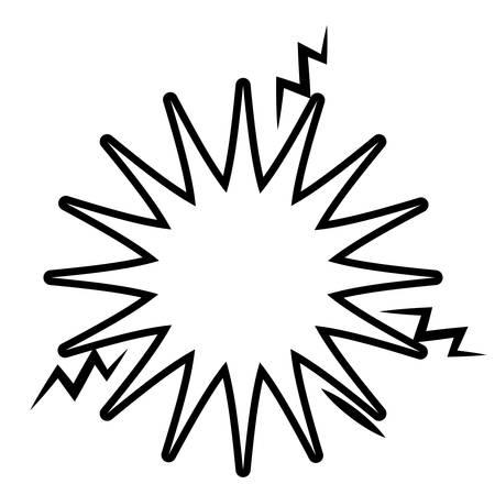 dinamita: bandera explosión aislado icono del diseño, ejemplo gráfico del vector
