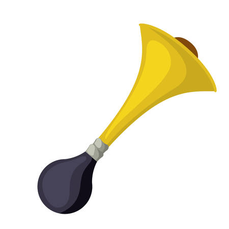 cornet: horn cornet isolated icon design, vector illustration  graphic