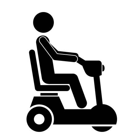 accessible: wheelchair for disabled person isolated icon design, vector illustration  graphic