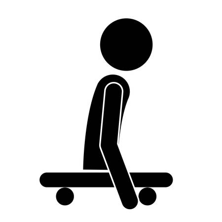 impaired: disabled person on skateboard isolated icon design, vector illustration  graphic