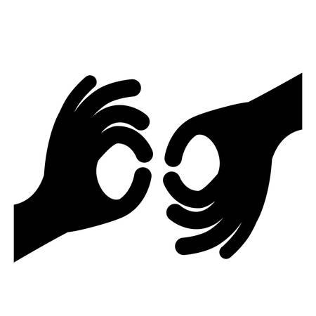 le langage des signes icône du design isolé, vecteur illustration graphique