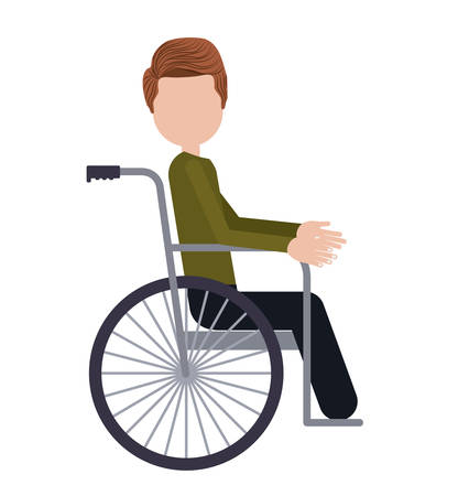medicine wheel: wheelchair for disabled person isolated icon design, vector illustration  graphic