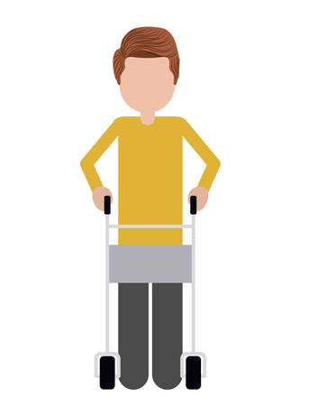 walker: walker for disabled person isolated icon design, vector illustration  graphic