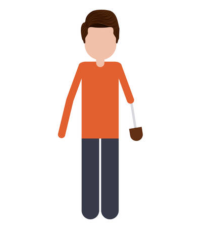 prosthesis: person with hand prosthesis isolated icon design, vector illustration  graphic