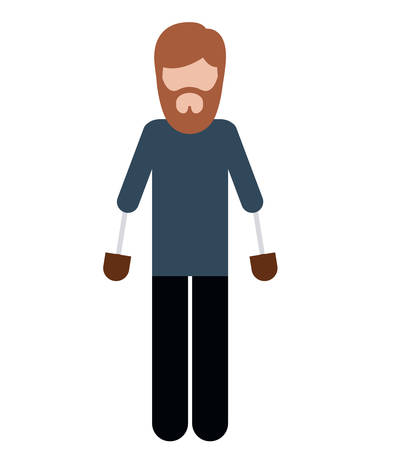 amputation: person with hand prosthesis isolated icon design, vector illustration  graphic