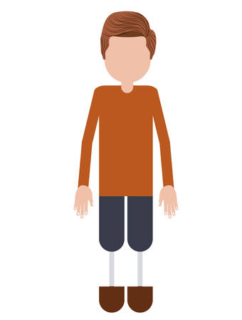 amputation: person with foot prosthesis isolated icon design, vector illustration  graphic
