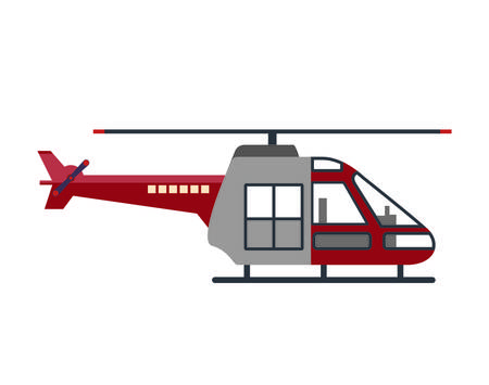 aero: helicopter vehicle flying icon vector graphic isolated Illustration