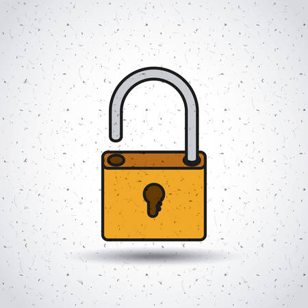 unlock: padlock unlock security icon vector isolated graphic