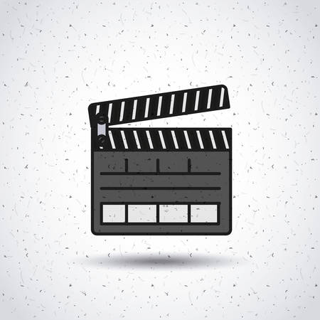clapperboard: clapper clapperboard production icon vector isolated graphic