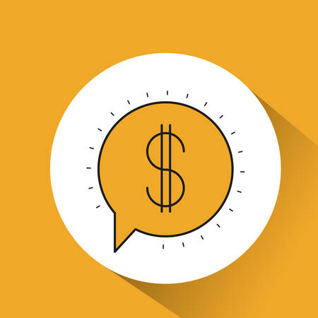 dialog balloon: speech bubble message icon vector illustration graphic Illustration