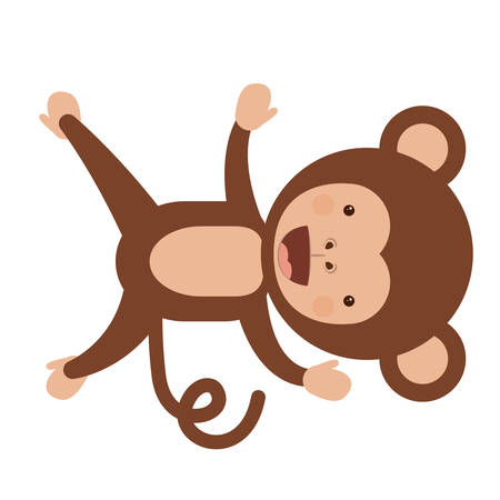 funny monkey character isolated icon design, vector illustration  graphic Illustration