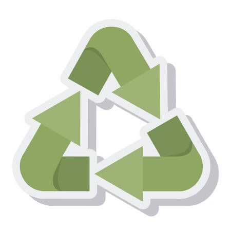 enviroment: arrows recycle symbol isolated icon vector illustration design
