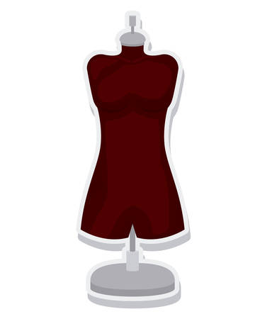 female mannequin isolated icon vector illustration design Illustration