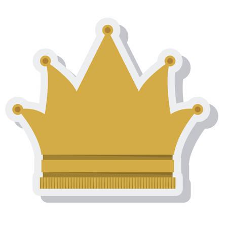 coronation: crown queen isolated icon vector illustration design Illustration