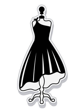 dress form: female mannequin isolated icon vector illustration design Illustration