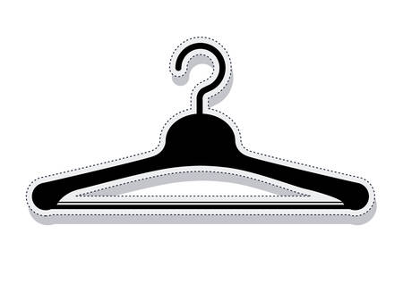 hanging clothes: hook for hanging clothes vector illustration design