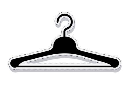 gancho para colgar la ropa ilustración vectorial de diseño