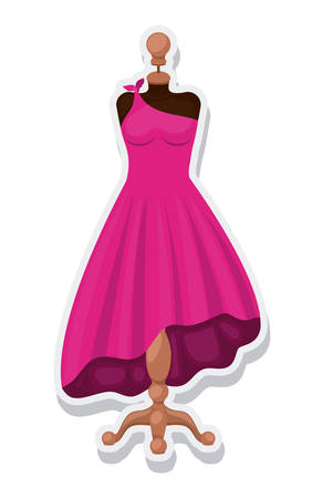 female mannequin isolated icon vector illustration design Illustration