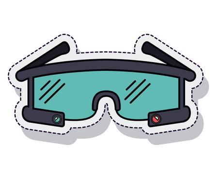 smartglasses wearable isolated icon vector illustration design Illustration