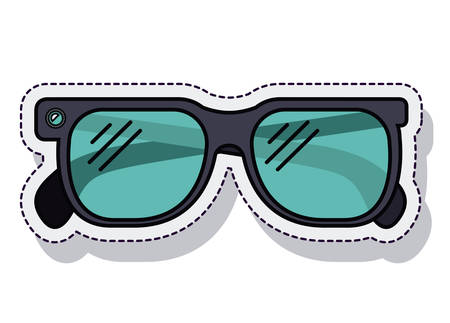 health care decisions: sunglasses summer isolated icon vector illustration design