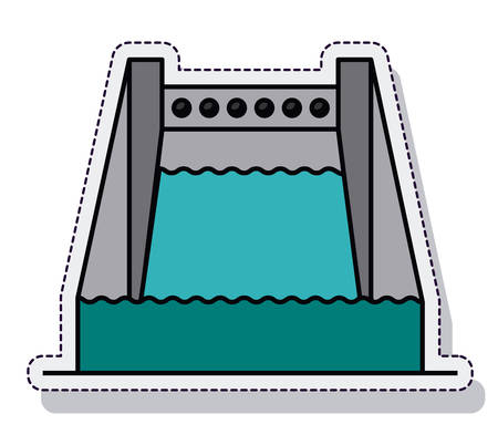 hydroelectric: Hydroelectric plant isolated icon vector illustration design