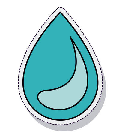 spill: water drop ecology isolated icon vector illustration design Illustration