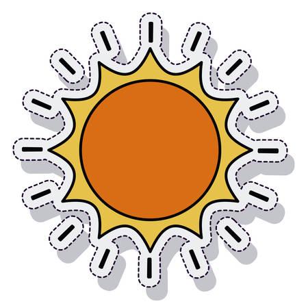 beam with joy: sun sunny isolated icon vector illustration design