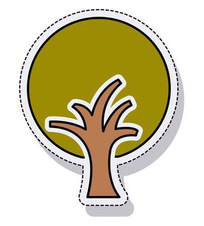 tree plant ecology isolated cion vector illustration design Illustration