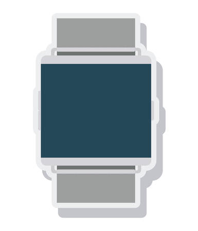 wristbands: watch time isolated icon vector illustration design Illustration