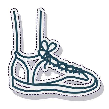 tennis shoes: tennis shoes isolated icon vector illustration design