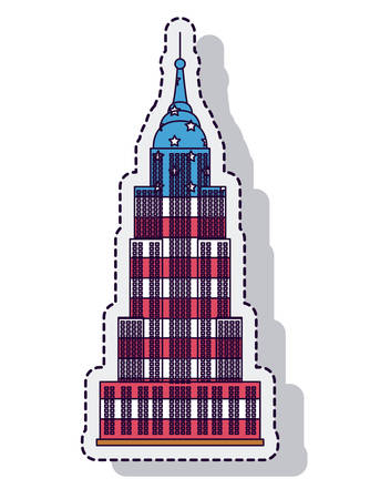 empire state isolated icon vector illustration design Illustration