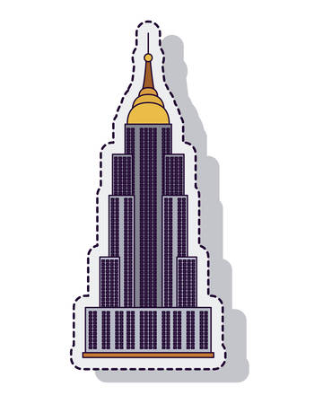 empire state: empire state isolated icon vector illustration design Illustration