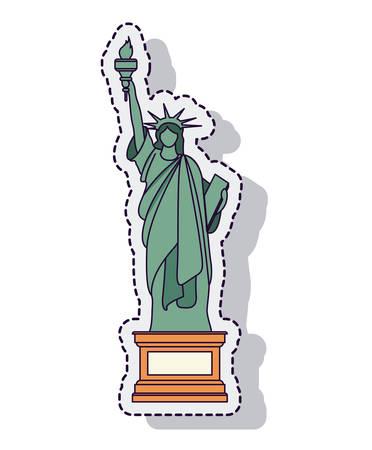 Freiheitsstatue isoliert Symbol Vektor-Illustration, Design, Standard-Bild - 61344213