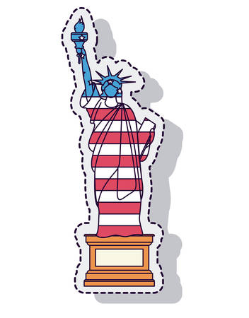liberty statue: liberty statue isolated icon vector illustration design