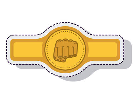 belt boxing isolated icon vector illustration design Illustration