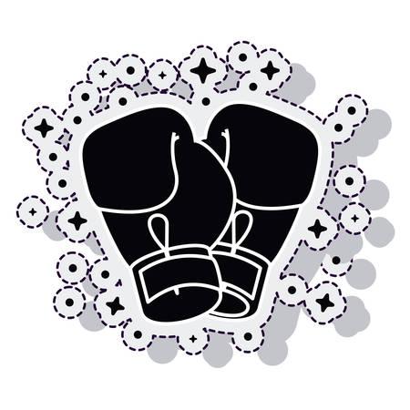 knocking: boxing gloves isolated icon vector illustration design Illustration